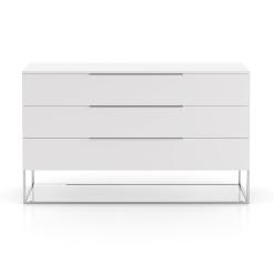 Bowery Dresser in Matte White
