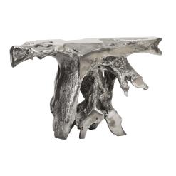 Brivo Console Table in Liquid Silver
