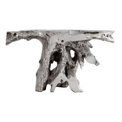 Brivo Console Table in Silver Leaf Finish