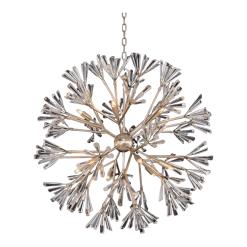 Crystalline 12 light pendant