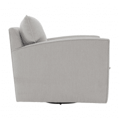 Ally Swivel Chair in Fabric Side