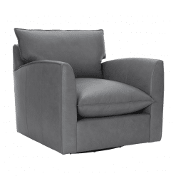 Ally Swivel Chair in Leather