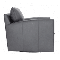 Ally Swivel Chair in Leather Side