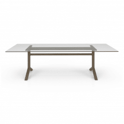 Auguste 108in Dining Table with Glass