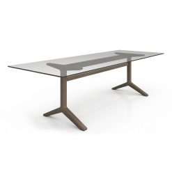 Auguste 108in Dining Table with Glass Angle