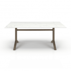 Auguste 76in Dining Table with Ceramic Top