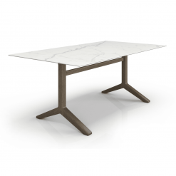 Auguste 76in Dining Table with Ceramic Top Angle