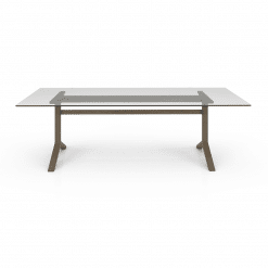 Auguste 98in Dining Table with Glass