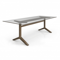 Auguste 98in Dining Table with Glass Angle