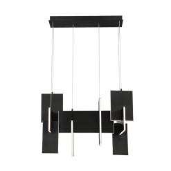 Thadrana 32.75 inch Linear Chandelier in Black
