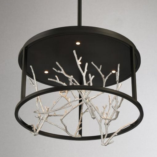 Aerie Small Round Chandelier in Silver