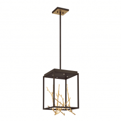 Aerie Square LED Chandelier in GOld