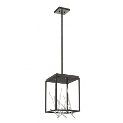 Aerie Square LED Chandelier in Silver