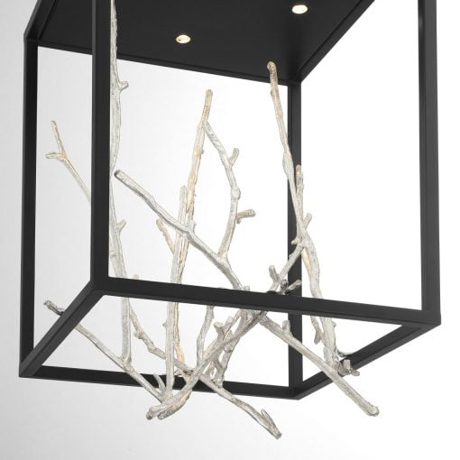 Aerie Square LED Chandelier in Silver Details