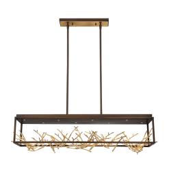 Aerie W42 inch chandelier in gold