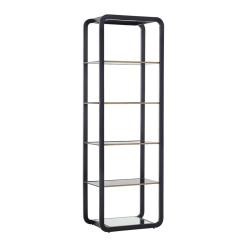 Ambretta Bookcase in Black Small