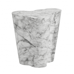 Ava Side Table in Marble Large