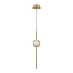 Barletta 1 Light Pendant in Brass