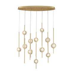 Barletta 12 Lt chandelier in brass