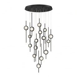Barletta 16 Light chandelier in black