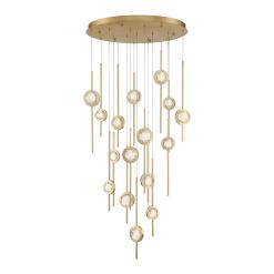 Barletta 16 Light chandelier in brass
