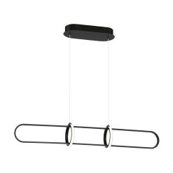Berkley 35 inch linear chandelier in matte black