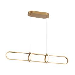Berkley 35 inch linear chandelier in satin gold