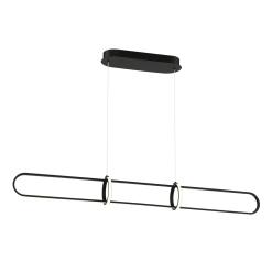 Berkley 47 inch linear chandelier in matte black