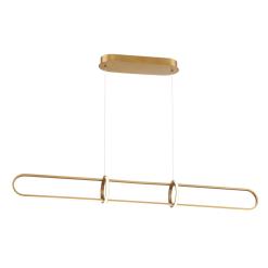 Berkley 47 inch linear chandelier in satin gold