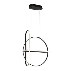 Berkley Round Chandelier in Matte Black