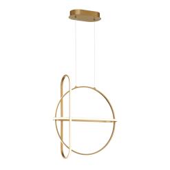 Berkley Round Chandelier in Satin Gold