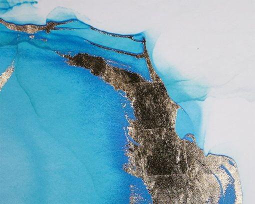 Blue Lagoon Wall Art Details