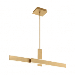 Cameno 36 inch Linear Chandelier in Satin Gold