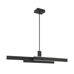 Cameno 45 inch linear chandelier in matte black