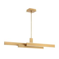 Cameno 45 inch linear chandelier in satin gold