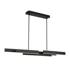 Cameno 55 inch linear chandelier in matte black