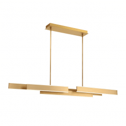 Cameno 55 inch linear chandelier in satin gold
