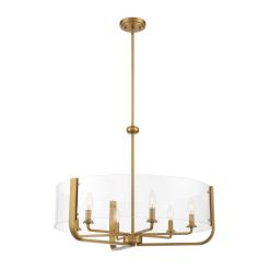 Campisi 6 Light Chandelier in Brass