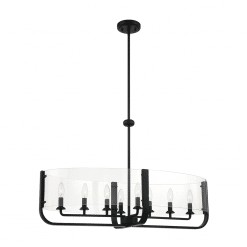 Campisi Oval Chandelier in Black