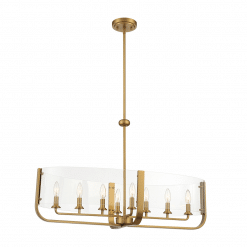 Campisi Oval Chandelier in Brass