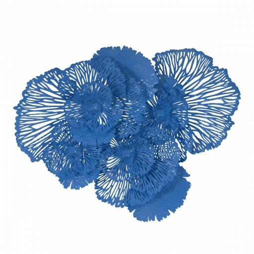 Flower Wall Art Large Blue