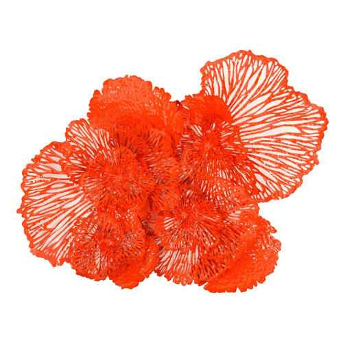 Flower Wall Art Large Coral