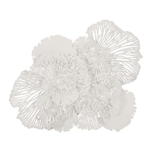 Flower Wall Art Large White
