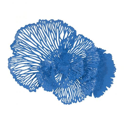 Flower Wall Art Medium Blue