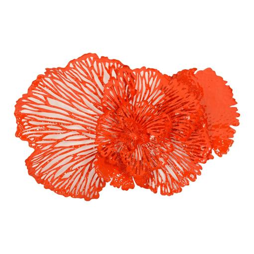 Flower Wall Art Medium Coral