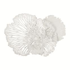 Flower Wall Art Medium White