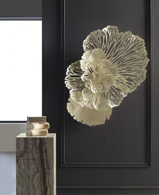 Flower Wall Art Medium in Ivory Liveshot