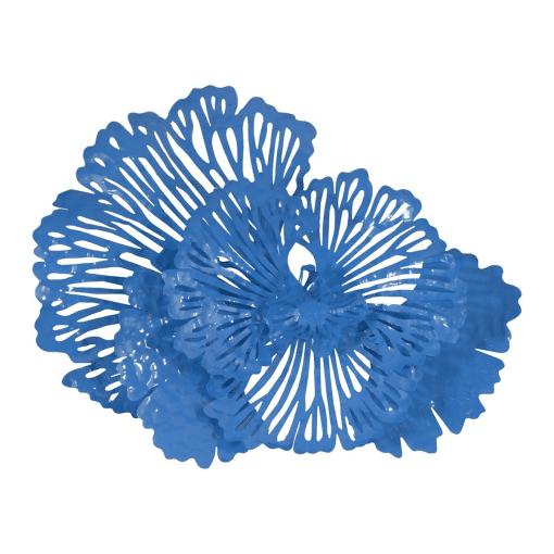 Flower Wall Art Small Blue