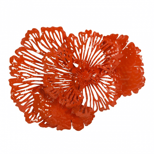 Flower Wall Art Small Coral
