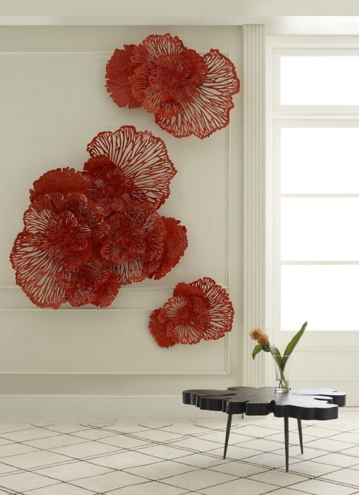Flower Wall Art in Coral Liveshot